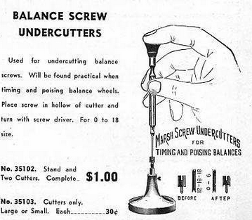 Balance Screw Undercutter