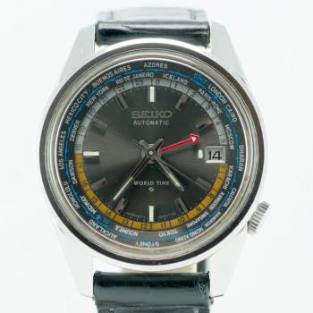 Seiko World Time Black Dial-1